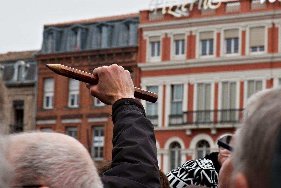 Pour la liberté d'expression - cc by-sa manu'pintor - janvier 2015 - Toulouse