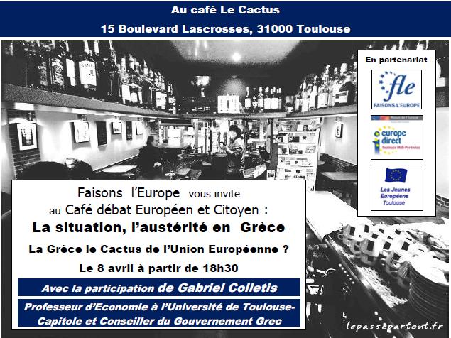 Affiche café débat européen et citoyen