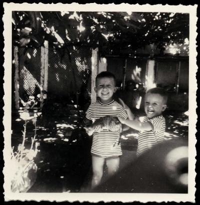 Mon frère Steph et moi en 65 (?)