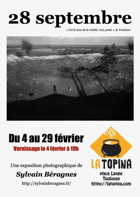 """Affiche exposition """"28 septembre"""" de Sylvain Béragnes"""
