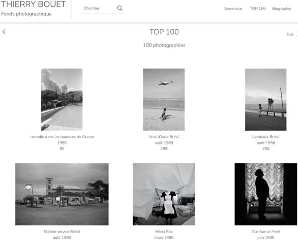 Thierry Bouët - TOP 100 de son fonds photographique